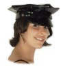Sexy Police Hat - Vinyl police style hat has fabric lining and hook and loop size adjuster. Adult size fits 57-61 cm heads (23.5 inches).