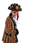 Arr Matey Hat - Includes a deluxe pirate hat with gold trim, skull and cross bone, and gold accents.