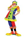 Spanky Stripes Adult Female Costume - Super bright, short sleeve dress with pom pom front, matching knickers and hat.
