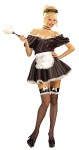 Fifi The French Maid Adult Costume - Now This Is A Head Turner! Includes: Ruffled headpiece, choker and dress with attached apron. One size fits most.