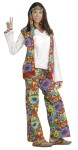Hippie Dippie Woman Adult Costume - Isnt This Groovy! Headband, vest, shirt and pants. One size fits most.