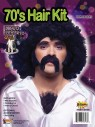 Disco Hair Kit - The perfect disco man accessory kit. Includes large moustache, side burns and hairy chest. Afro wig sold separately.