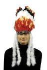Indian Headdress - Tall headdress with traditional feathers and marabou side accents.