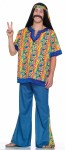 Far Out Man Adult Costume - 60s style costume. Hey man it includes shirt, pants with matching headband. Groovy!