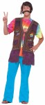 Hippie Peace Vest - 60s style suede look fabric vest with traditional retro symbols attached. Groovy man!