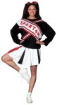 Cheerleader Spartan Girl Adult Costume - Includes top with imprinted Spartan logo and pleated skirt. One size.
