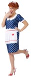 Sassy Lucy Adult Costume - Dotted dress, apron, hairbow, and wig with a little flirty attitude!