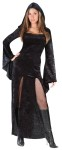 "Sultry Sorceress Adult Costume - Front slit velvet gown with hood. Also available in Plus Size: <a href=""/sultry-sorceress-adult-costume---plus-size-grp-123fw110055.aspx"">FW110055</a>."