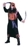 Buccaneer Baron Adult Costume - Includes long, cut-away coat, shirt, belt, scarf, eyepatch and boot tops. One size fits up to 180-300 lbs.