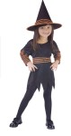 Witch Pumpkin Patch Toddler Costume - Includes scalloped edge dress with orange ruffle sleeves, belt and matching hat. <br>