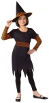 Witch Pumpkin Patch Child Costume - Includes scalloped edge dress with orange ruffle sleeves, belt and matching hat.