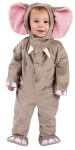 Cuddly Elephant Toddler Costume - Includes snap-close crotch jumpsuit, attached feet and hood. Floppy ears, trunk and tusk are attached to hood.