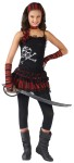 Pirate Skull Rocker Child Costume - Dress with large skull print, bandana, and choker. Sword, leggings, and glovettes not included.