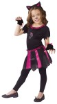 "Cat Sweetheart Child Costume - Hot pink and black dress has mitts and cat ear headpiece. Also available in Toddler Size:&nbsp;<a href=""/cat-sweetheart-toddler-costume-grp-123fw114101.aspx"">fw114101</a>."