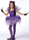 Batarina Child Costume - Includes tutu dress with matching batwings, glovelets and bat ear headband.