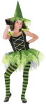 "Ballerina Witch Child Costume - Pretty dance-style costume has puff sleeves and full skirt, and includes mitts and hat. Also available in Toddler Size: <a href=""/ballerina-witch-toddler-costume-grp-123fw114181.aspx"">FW114181</a>."