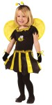 "Sweetheart Bee Toddler Costume - Cute black and yellow dress has mitts, wings, and headpiece. Also available in Child Size: <a href=""/sweetheart-bee-child-costume-grp-123fw114202.aspx"">FW114202</a>."