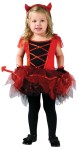 "Devilina Toddler Costume - Lovely ballerina-style costume in red and black, with mitts, headpiece, and tail. Also available in Child Size: <a href=""/devilina-child-costume-grp-123fw114272.aspx"">fw114272</a>."