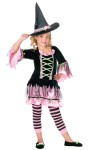 Blossom Witch Child Costume - This little cutie will cast a spell on you! Velvet dress  with satin tulle and flower applique, bell sleeves, and  matching witch hat.