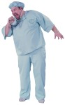 Doctor Doctor Adult Costume (Plus Size) - Our Adult Doctor costume includes blue scrub pant with matching shirt cap and mask. Our Plus Size fits up to a 62 height and up to 300 pounds.