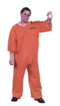Got Busted Penitentiary Adult Costume (Plus Size) - Perfect for Convict or Jailbird Criminal Outfit. Includes: Penitentiary top, pants, printed ID# and handcuffs. One Size fits up to 300lbs.