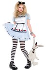 Alice In Wonderland Teen Costume - Includes mini dress with satin apron and black heart headpiece.