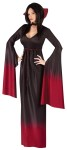 Blood Vampiress Adult Costume - Includes fading black-to-burgundy gown with collar, belt and choker.  Also available in Plus Size (style FW120825)