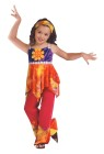 Hippie Tie Dye Child Costume - Sleeveless top and pants have tie-dye accents and a head tie. Groovy!