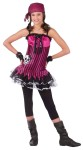 "Rockin Skull Pirate Teen Costume - Hot pink minidress with net skirt attached, bandana, sleevelets, and footless tights. Also available in Adult Size: <a href=""/rockin--skull-pirate-adult-costume-grp-123fw121244.aspx"">FW121244</a>."