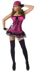 "Rockin Skull Pirate Adult Costume - Hot pink minidress with net skirt attached, bandana, sleevelets, and footless tights. Also available in Teen Size: <a href=""/rockin--skull-pirate-teen-costume-grp-123fw121243.aspx"">FW121243</a>."