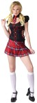 "Sassy Scholar Adult Costume - Little black and plaid minidress with black collar and attached plaid tie. Lace-up sides show a little skin! Also available in Teen Size: <a href=""/sassy-scholar-teen-costume-grp-123fw122323.aspx"">fw122323</a>."