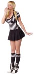 Racy Referee Adult Costume - Precious minidress with referee stripes. Call all the shots!