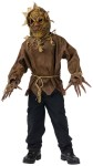"Scarecrow Child Costume - Rough hewn shirt, rope belt, gloves with extended fingers, and mask with attached hood. Also available in Adult Size: .<a href=""/scarecrow-adult-costume-grp-123fw130134.aspx"">FW130134</a>"