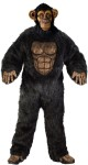Comical Chimp Adult Costume - Jumpsuit come with mask, gloves and shoe covers. A happy chimp!