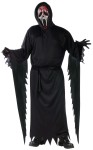 "Zombie bleeding Ghost Face Adult Costume - Black hooded robe comes with belt, mask, gloves, and hand-held pump with blood. Also available in Child Size: <a href=""/zombie-bleeding-ghost-face-child-costume-grp-123fw130482.aspx"">FW130482</a>."