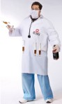 Dr. Shots Adult Costume (Plus Size) - This Doc has your best interest at heart, I think. Lab coat, with 4 syringe loops, screened logo, 4 syringes, scrub mask and stethoscope. For regular adult size see style FW130624.