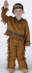 American Indian Boy Toddler Costume - Includes suede look fringed top and pants with ribbon trim and headband. For bigger child size see style FW131022. Adult Size FW131024. Adult Plus Size FW131025.