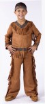 American Indian Boy Child Costume - Includes suede look fringed top and pants with ribbon trim and headband. For toddler size see style FW131021. Adult Size FW131024. Adult Plus Size FW131025.