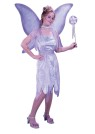 Watercolor Fairy Adult Costume - Includes shimmery velvet dress with mesh vest, sash, glitter fairy wings, choker and wand.