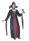 Our Victorian Vampiress Adult Costume (Plus Size) includes a velvet dress with a large collar long, extended sleeves and a black choker. One size fits 16-24.