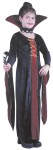 Victorian Vampiress Child Costume - Includes Velvet Dress, attached collar, choker.