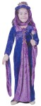 Velvet Renaissance Princess Child Costume for children includes a purple and pink dress with a matching headpiece.
