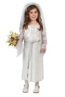 Elegant Bride Toddler Costume - Beautiful little bride! Long dress with chiffon drop sleeves, belt and headpiece veil.