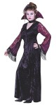 Gothic Lace Vampire Teen Costume - Includes: Gothic Lace Sleeves with tassels, Gown, Tassel Tie Belt, Stand-up Gothic Lace Collar & Choker.