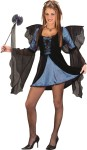 Sweet & Sexy Fairy Teen Costume - Two tone, long sleeve mini dress, drop sleeves, wings and wand. *Shoes and panty hose not included.