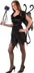Hot Fairy Teen Costume - Includes dress with tie, wand, wings and shoulder tatters. *Shoes and pantyhose not included.
