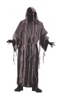 Includes Ghoul robe, gauze tatter over-robe, gloves, robe belt, and invisible mask with attached hood and light-up ghoul glasses. One size fits 33-45. Ghoul glasses require 3 AA batteries (not included).