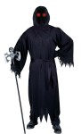 Costume includes robe, belt, hood, gloves and glasses with fade in/fade out mechanism. One size fits most adults 33-45.
