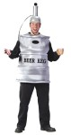 "Beer Keg Adult Costume - Lets party dude…Includes: cloth keg body cover, helmet with pump and cap piece.  Keg helmet hold 400ml. of drink and hand held dispenser allows easy sharing. Available in Plus Size: <a href=""/BEER-KEG-COSTUME,-PLUS-SIZE-Grp-123FW5766.aspx"">FW5766</a>."