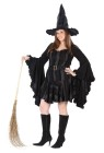 Stitch Witch Adult Costume (Plus Size) - Mini dress with stitch up detailing, drop sleeves, belt and matching hat.